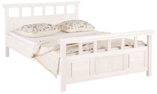 Łóżko sosnowe białe 140x200 cm ponadczasowo piękne