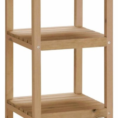 Minimalistyczny, drewniany regał, olejowany