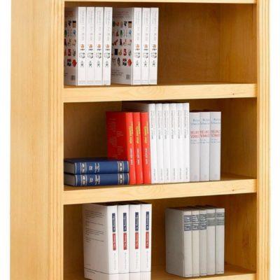 Elegancki regał na książki sosnowy, wysokość 220 cm