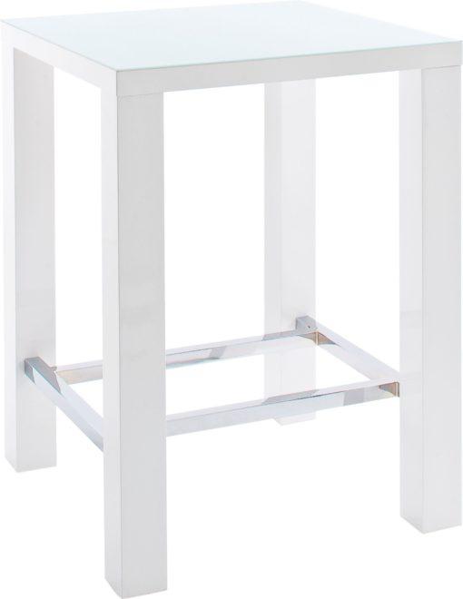 Nowoczesny stół barowy, biały wysoki połysk