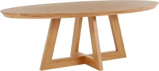 Owalny stół z drewna dębowego 140 cm, skandynawski design