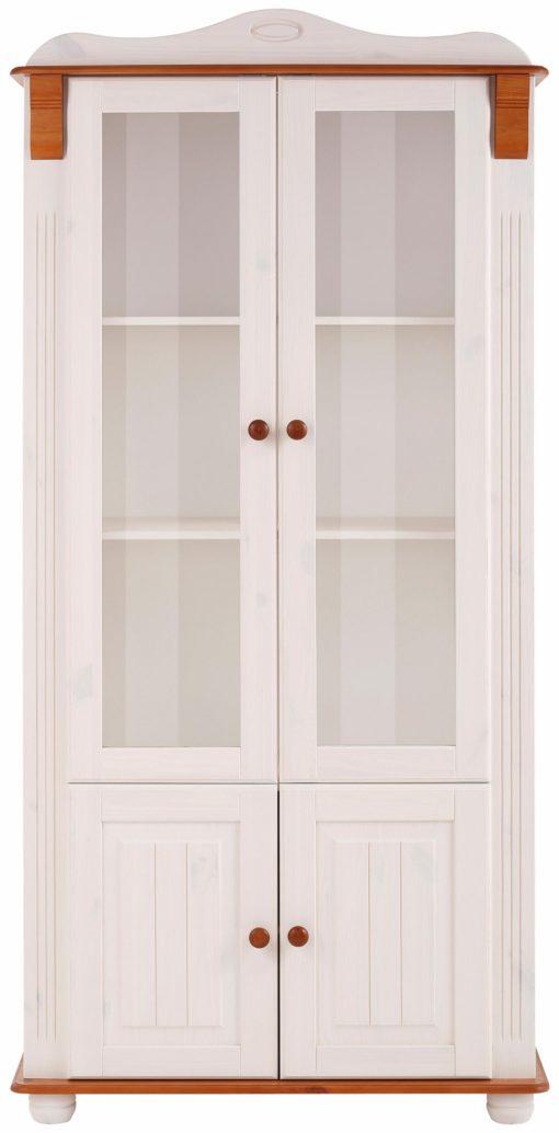 Sosnowa witryna Adele biało-wiśniowa, romantyczny styl