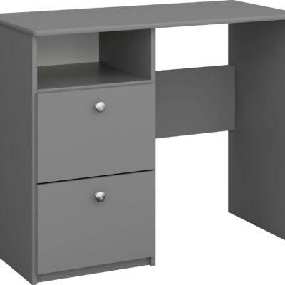 Zgrabne szare biurko duński design, 2 szuflady