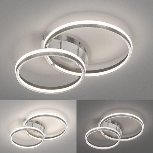 Nowoczesna lampa led z funkcją ściemniania, nikiel