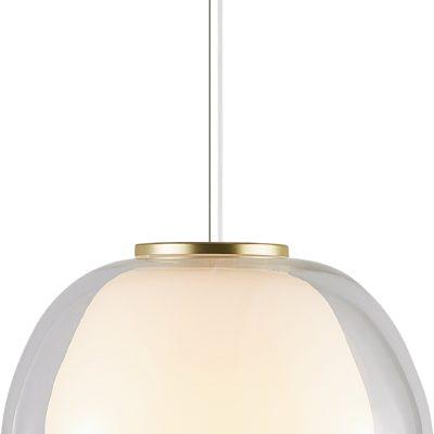 Lampa wisząca Jelly, dmuchane ręcznie szkło, biała