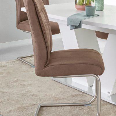 Wygodne krzesła na płozach, w kolorze błota - 2 sztuki
