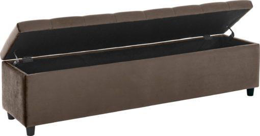 Tapicerowana ławka ze schowkiem 140cm, beżowa
