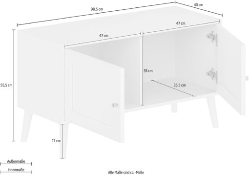 Biała elegancka ławka do przedpokoju lub komoda