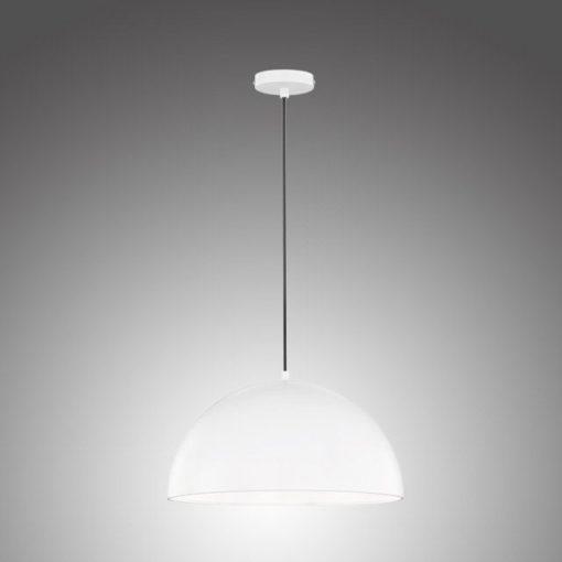Wisząca biała lampa w stylu skandynawskim