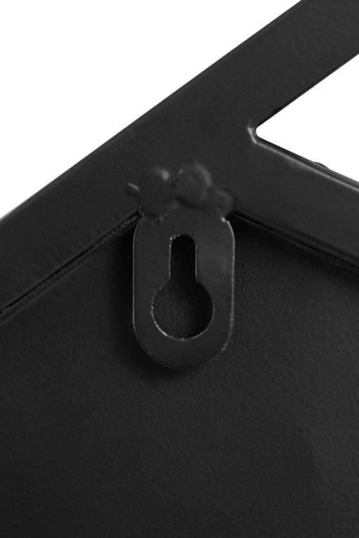 Czarne lustro w stylu industrialnym, rama z metalu