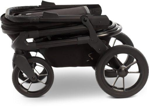 Wózek kombi czarny Moon, nosidełko, gondola i spacerówka