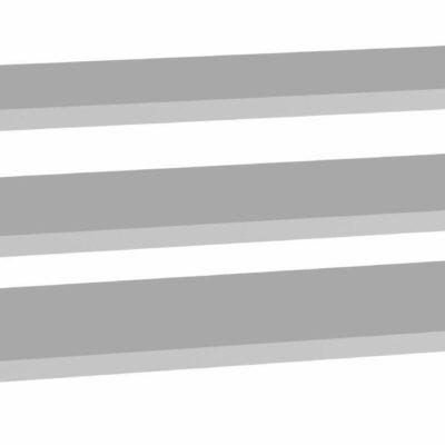 Trzy szare półki do szaf Forte