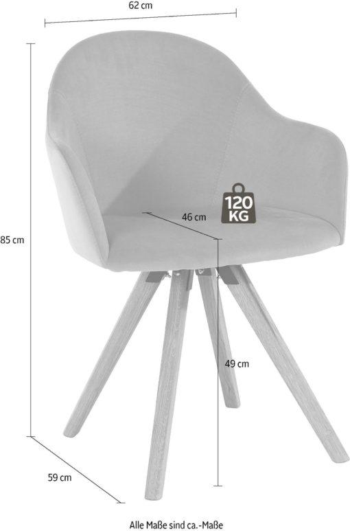 Zielone krzesła w kształcie foteli, dębowe nogi - 2 sztuki