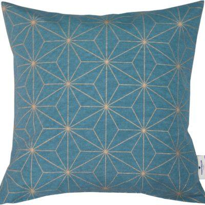 Poszewka na poduszkę 40x40 cm ze złotym motywem