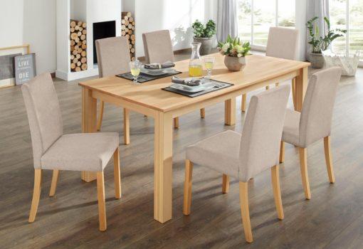 Bukowy stół kuchenny, kwadratowy 120x80 cm