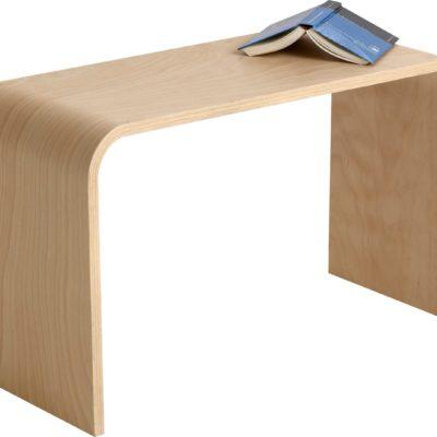 Minimalistyczna brązowa ławka o nowoczesnym designie