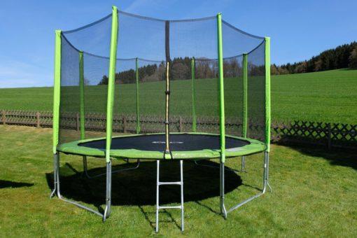 STAMM SPORTS trampolina ogrodowa, Ø 427 cm, drabinka i siatka