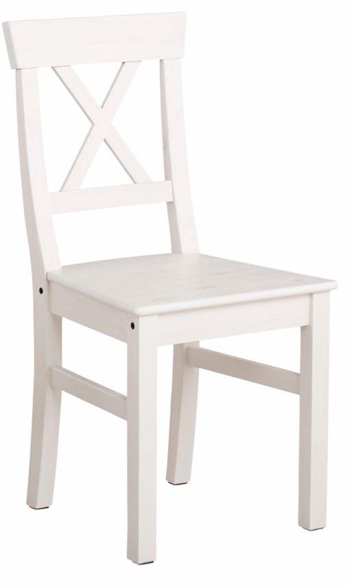 Zestaw stół i cztery krzesła z litej sosny, biały