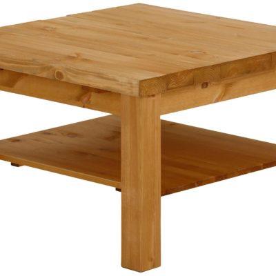 Stolik naturalny drewniany, z olejowanym szczotkowanym blatem
