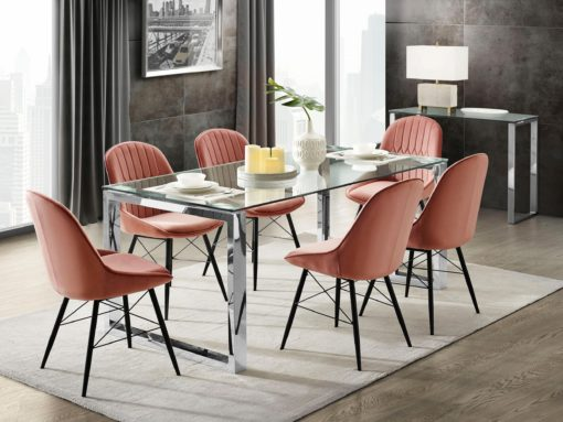 Elegancki stół do jadalni Colmar Leonique szklany blat