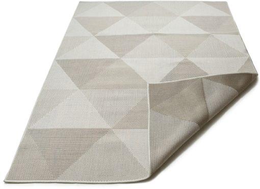 Wzorzysty dywan 80x150 cm, odcienie szarości i brązu