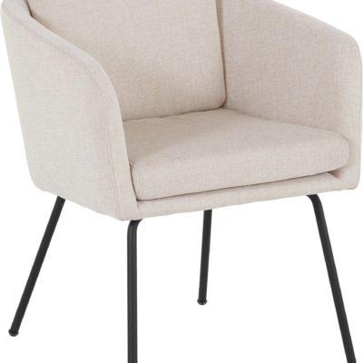 Beżowy fotel LeGer Home, nowoczesny styl