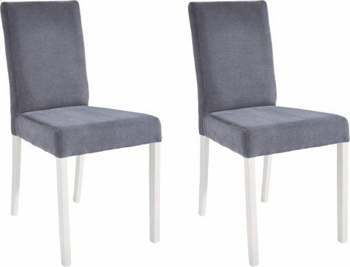 Szare krzesła z białymi nogami - 2 sztuki