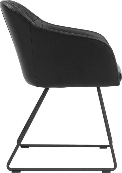 Czarne krzesła, fotele na filigranowej ramie - 2 sztuki