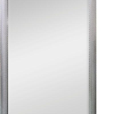 Duże lustro w drewnianej ramie, srebrnej zdobionej