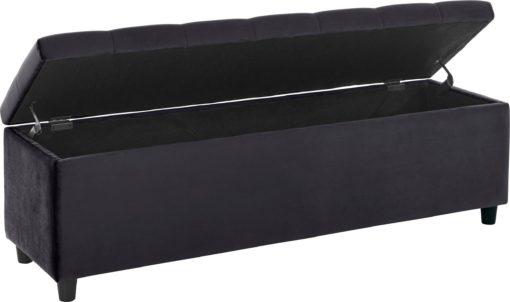 Tapicerowana ławka ze schowkiem 100 cm, szara
