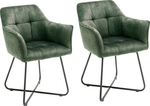 Atrakcyjne oliwkowe krzesła/ fotele - 2 sztuki