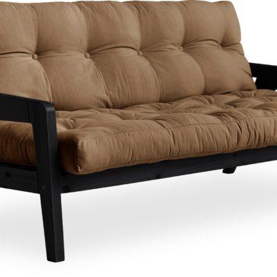 Sofa rozkładana Karup Grab, czarna, materac mocca