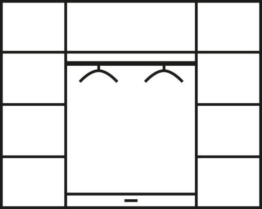Klasyczna biała szafa czterodrzwiowa z lustrem