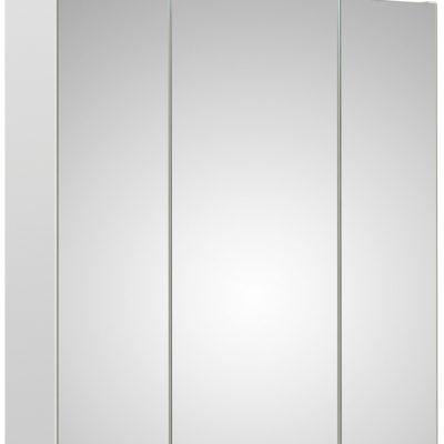Szafka łazienkowa z lustrzanym frontem i oświetleniem led