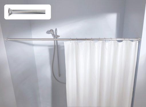 Pręt sprężynowy na zasłonę prysznicową 125-220 cm