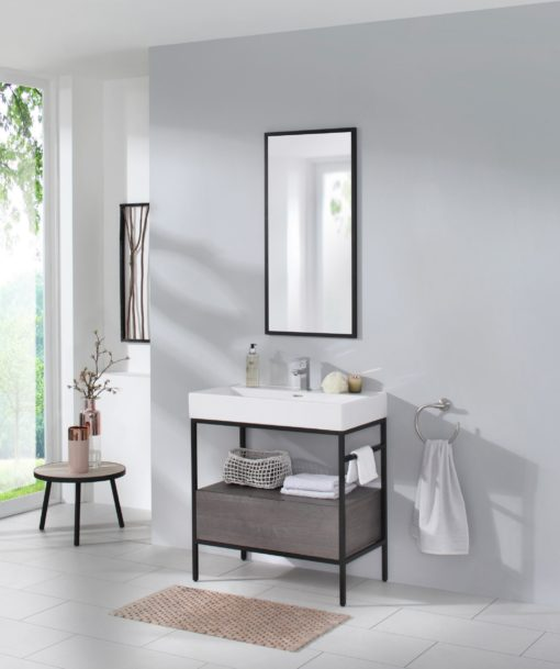 Szafka pod umywalkę z umywalką, nowoczesna minimalistyczna