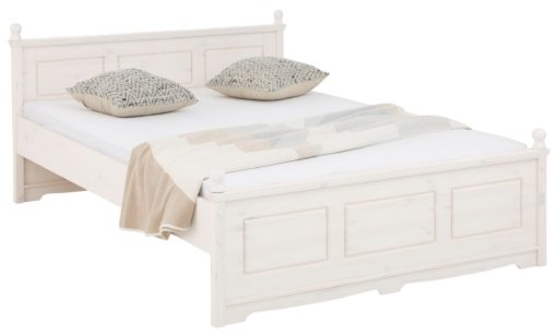 Białe sosnowe łóżko EVA 140x200 cm