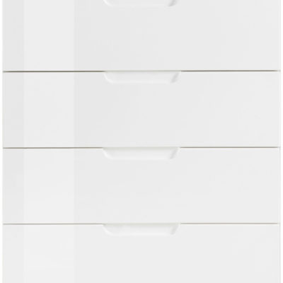 Komoda Forte z 6-ma szufladami, biała w połysku