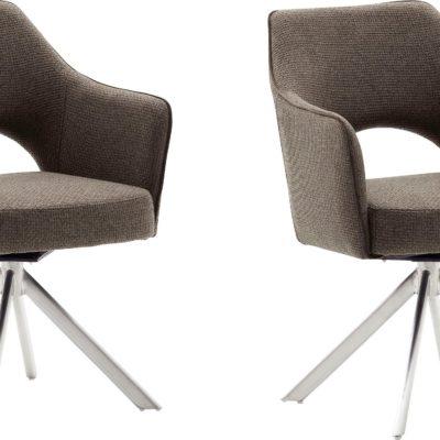 Zestaw dwóch krzeseł w stylu vintage - Cappuccino