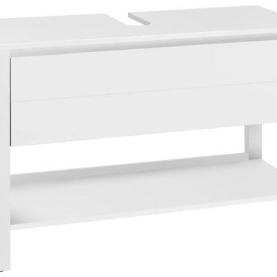 Biała szafka pod umywalkę, nowoczesna