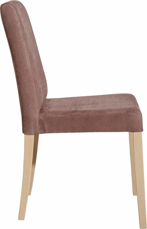 Brązowe krzesła, nogi dąb sonoma - 2 sztuki
