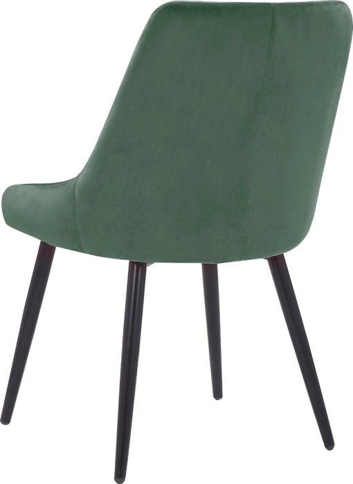 Tapicerowane krzesła w odcieniach ciemnej zieleni - 2 sztuki
