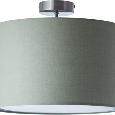 Lampa sufitowa, okrągły abażur w odcieniach zieleni