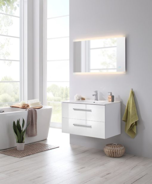 Lustro łazienkowe z oświetleniem LED 100x60 cm