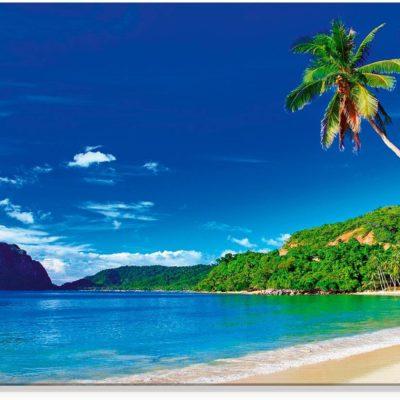 """Obraz na szkle z motywem """"Tropikalny raj"""" 125x50 cm"""