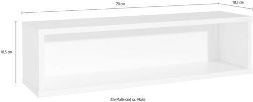 Półka ścienna biała kredowa 70 cm szerokości
