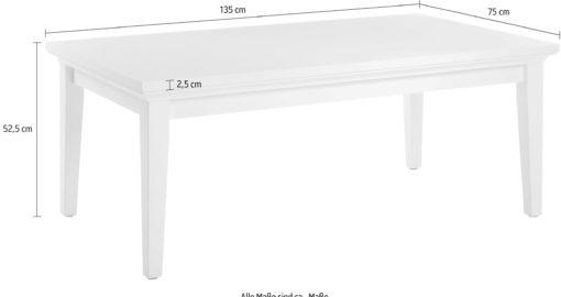 Biały stolik kawowy Paris 75x135 cm