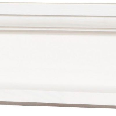 Biała drewniana półka 100 cm, klasyczna