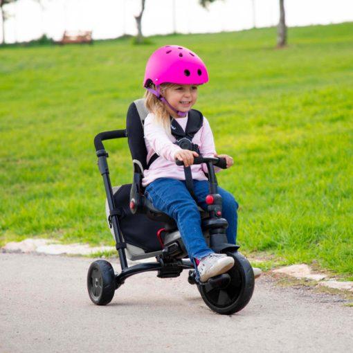 Wózek, rowerek trójkołowy smarTfold 700S, 8w1, beż