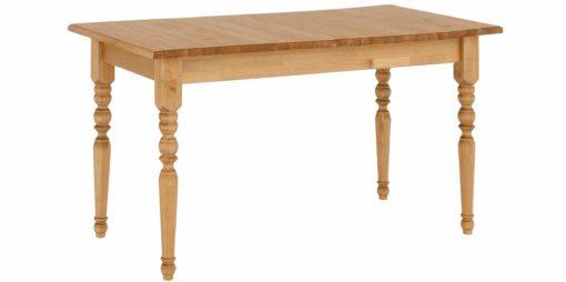 Piękny, sosnowy stół z toczonymi nogami, 120 cm, olejowany